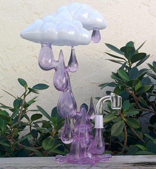Rain Clouds Cannabis Dab Rig | Medical Marijuana Quality Matters | Repined By 5280mosli.com | Organic Cannabis College | Top Shelf Marijuana | High Quality Shatter | #OrganicCannabis