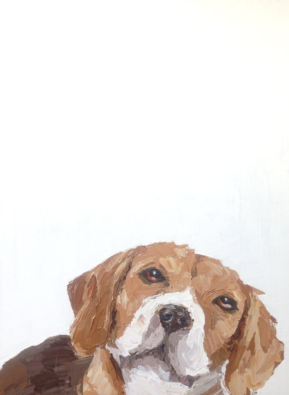 Beagle,Pet Portrait,Rescue Art,Dog Art,Beagle Art,Original Painting,Pet Portrait Art,Beagle Painting,Abstract Modern Painting,Large Wall Art by RescueArtco on Etsy
