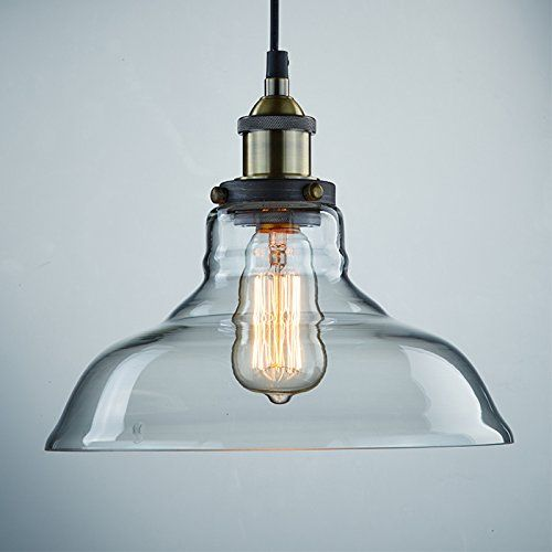 YOBO Lighting Industrial Edison 1 Light Glass Shade