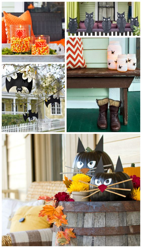Decorating ideas halloween and outdoor on pinterest for Pinterest halloween outdoor decorations