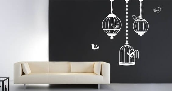 Cutie Birds Cages wall stickers