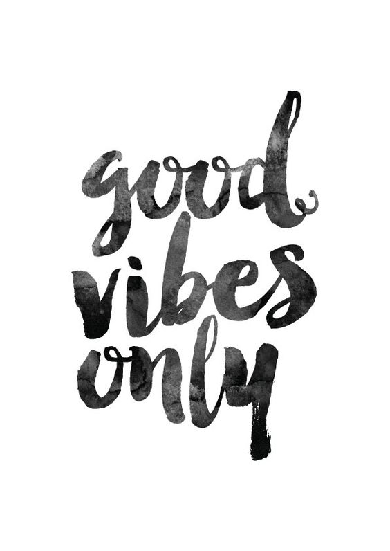 Good Vibes Only Printable Poster Inspirational Quote