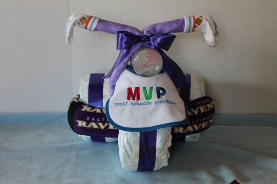 Football Fan Diaper Tricycle by CountryMoonCrafts on Etsy, $59.95