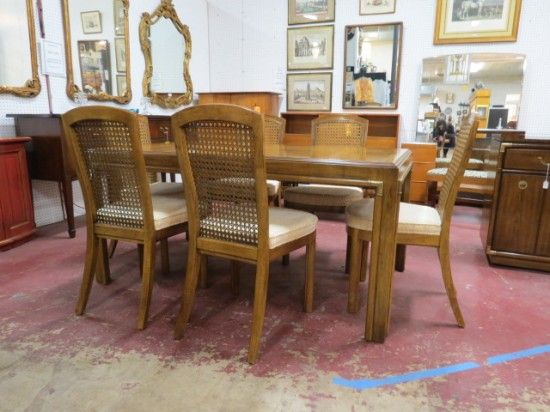 Soldvintage Midcentury Modern Drexel Dining Table And 6 Chairs Brilliant Drexel Dining Room Furniture 2018