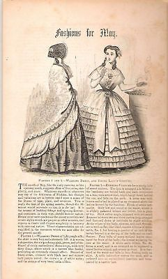 VICTORIAN FASHION PRINT - FASHIONS FOR MAY