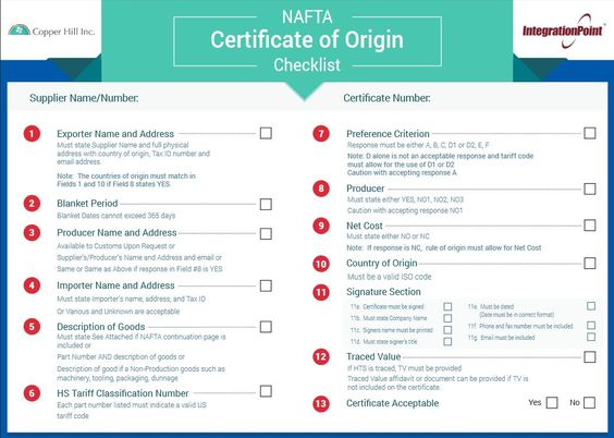 certificate of origin nafta - Google Search NAFTA certificate of - certificate of origin sample
