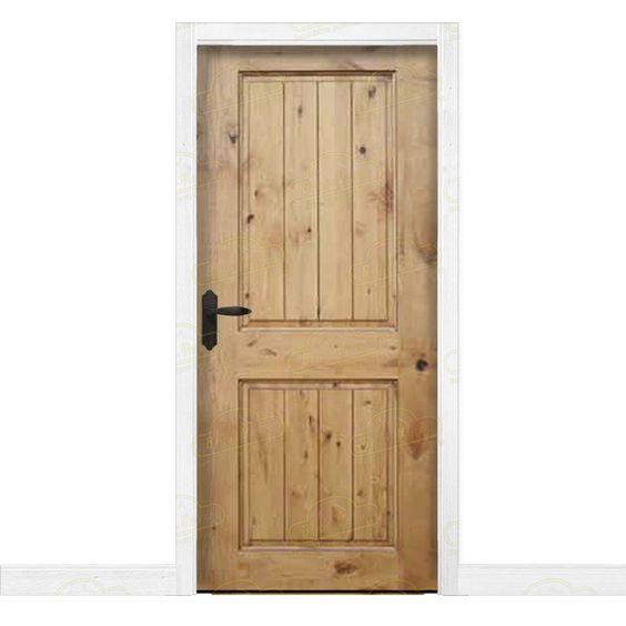 Puerta interior r stica en madera maciza de pino modelo pm for Catalogo de puertas de madera para interiores