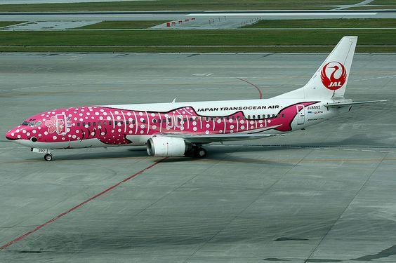 Japan Transocean Air, Boeing 737-400, JA8992, Sakura Jinbei Jet livery, Okinawa Naha