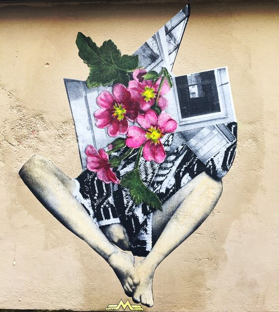#flowers & #legs by @annelauremaison #annelauremaison #femmemaison  #streetart #graffiti #graff #spray #bombing #wall #instagraff #streetartist #urbanart #urbanartist  #streetartparis #parisgraffiti #graffitiwall #wallporn #wallpornart #streetarteverywhere #streetphoto #streetartandgraffiti #urbanwalls #graffart  Passage St Sebastien #paris