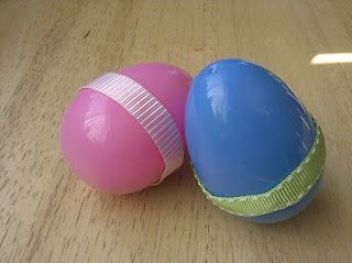 Kids DIY Egg Shakers. Cute in a little ones Eater basket.
