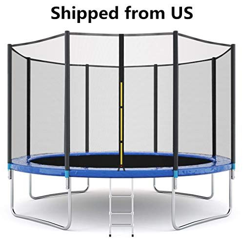 Makaor 12 Ft Trampoline With Enclosure Net And Poles Safety Pad Ladder Jumping Mat Spring Cover Pad I In 2020 Outdoor Trampoline Kids Trampoline Trampoline Enclosure