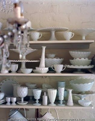 I love milk glass.  My new addiction.