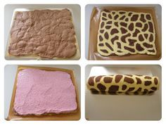 ZUCKERWELT: Giraffenhals-Roulade, Biskuitrolle mit Giraffenmuster!