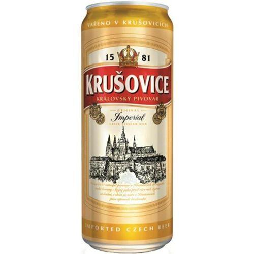 Bia Krusovice 5% - Lon 500ml - Bia Nhập Khẩu TPHCM