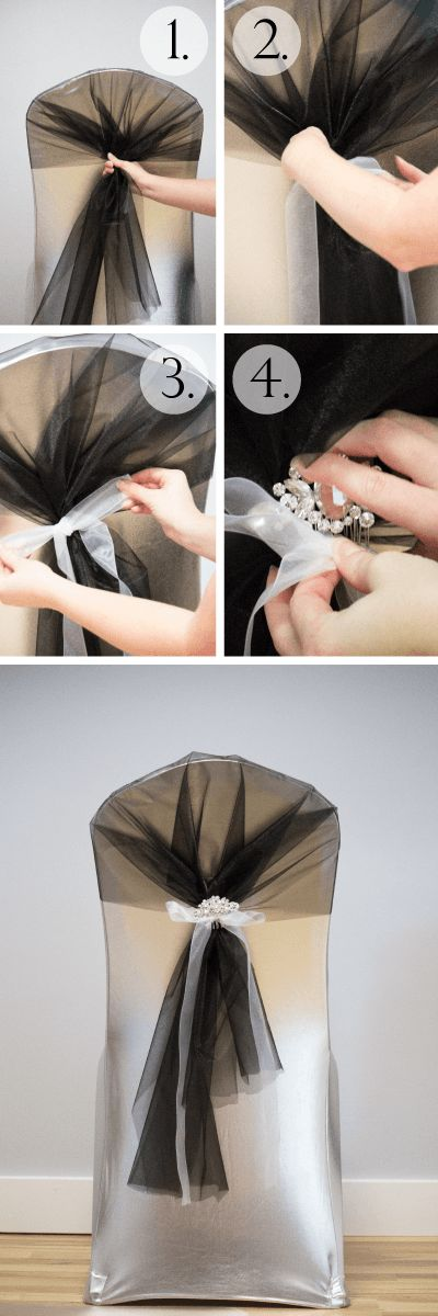 Tutorial: 6 Chair Sashes Created With Organza Rolls • DIY Weddings Magazine: