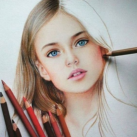 Pencil Portrait Mastery - Colored pencil piece by @marat_art | tag and share if you love art! - Discover The Secrets Of Drawing Realistic Pencil Portraits