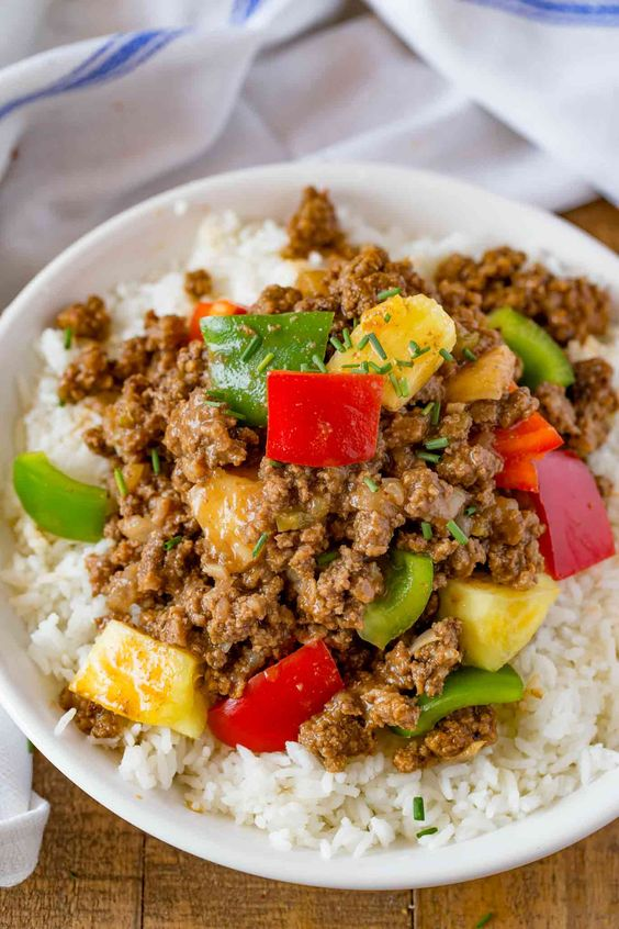 Ground Hawaiian Beef and Rice