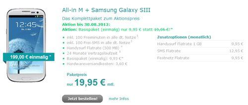 hellomobil Samsung Galaxy S3 Aktion