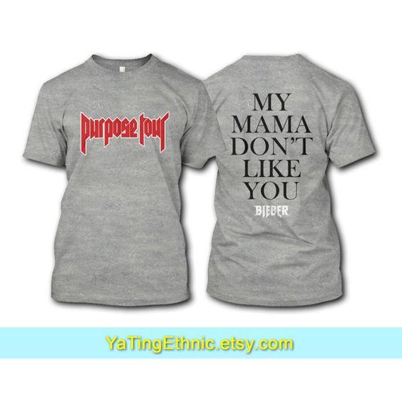 Justin Bieber Purpose Tour chemise   ---Description---  Tous nos t-shirt en…