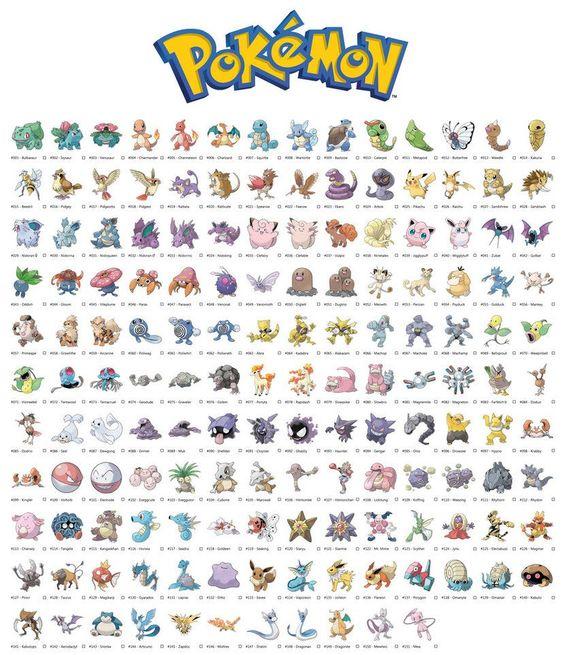 Pokemon Generation 1 Original 151