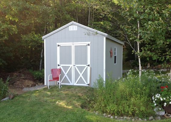 Storage that fits into the backyard.