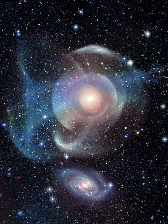 """GC 474:雄偉的銀河包在""""貝殼""""信用:加拿大 - 法國 - 夏威夷望遠鏡/ Coelum"""