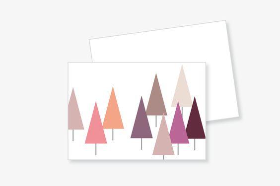 """PostKARTE """"TANNE"""" mit Umschlag von Frau B. - PapeterieSHOP auf DaWanda.com"""