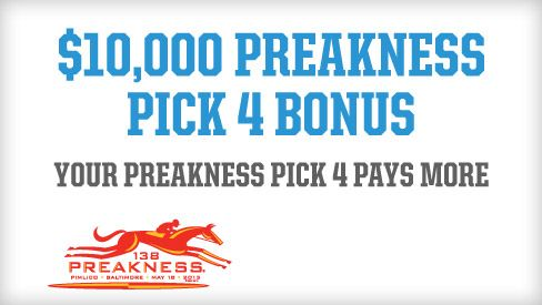 TwinSpires.com | $10,000 Preakness Pick 4 Bonus | Bet Online With The Leader In Online Horse Racing