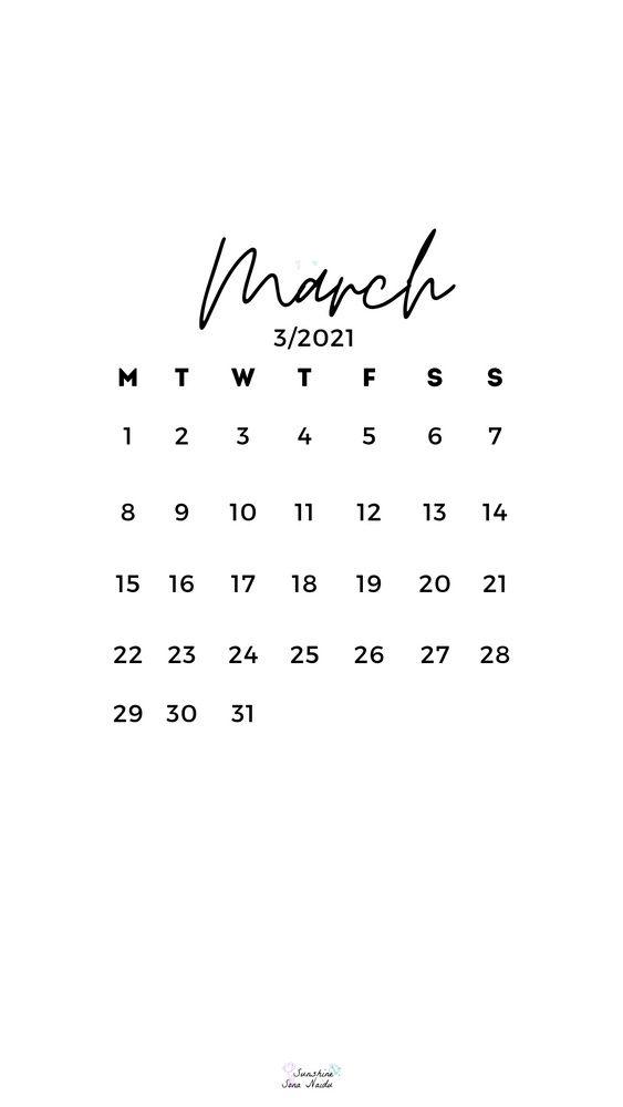 March 2021 Wallpaper Hd Quotes That Describe Me Print Calendar Calendar Wallpaper