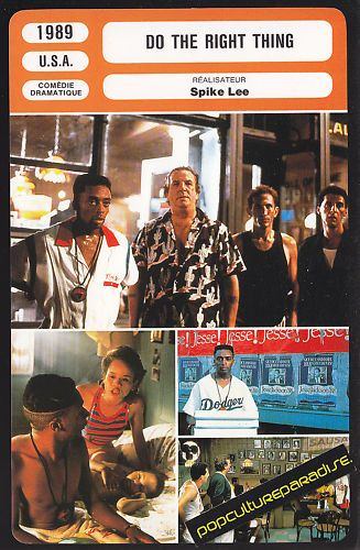 a review of do the right thing a film by spike lee Do the right thing is already stirring people up, which is just what spike lee had in mind lee, a gutsy black film maker with the courage of his convictions, is understandably angry about the degree of racism that still exists in this country his movie confronts the issue head-on what's.