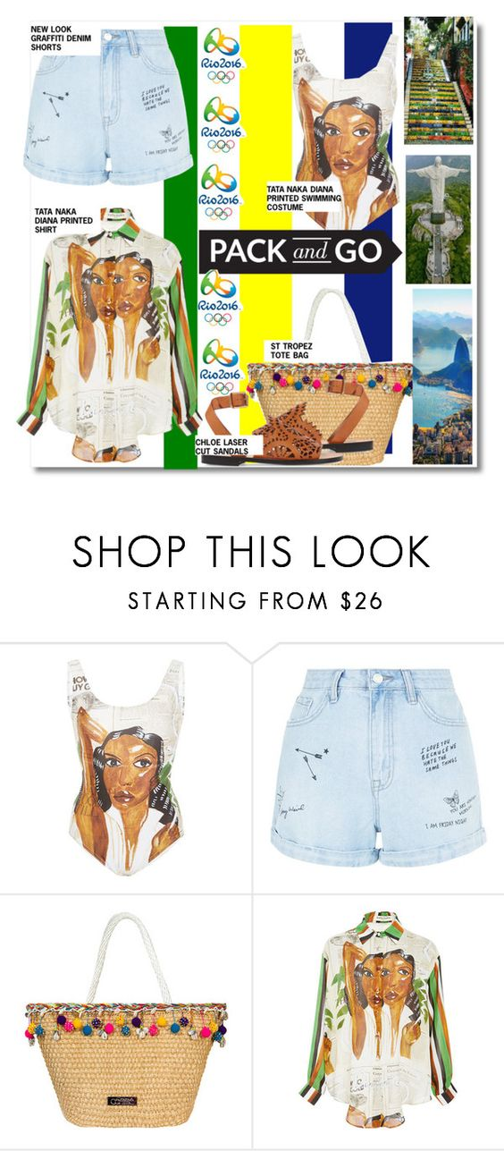 """""""Take me to Rio..."""" by nfabjoy ❤ liked on Polyvore featuring Tata Naka, New Look, Caffé, Opening Ceremony, Chloé, rio and Packandgo"""