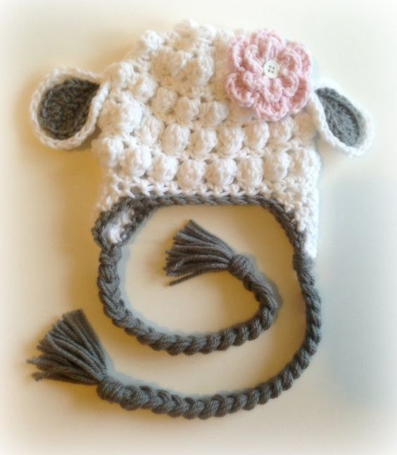 Little Lamb Crochet Hat: