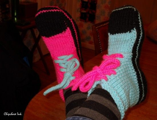Knitting Pattern For Converse Socks : Crochet Sock Slippers All The Best Patterns Free pattern ...