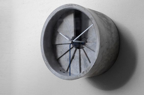 Concrete Clock by 22design studio via thisiscolossal #Clock #Concrete_Clock #22design_studio #thisiscolossal