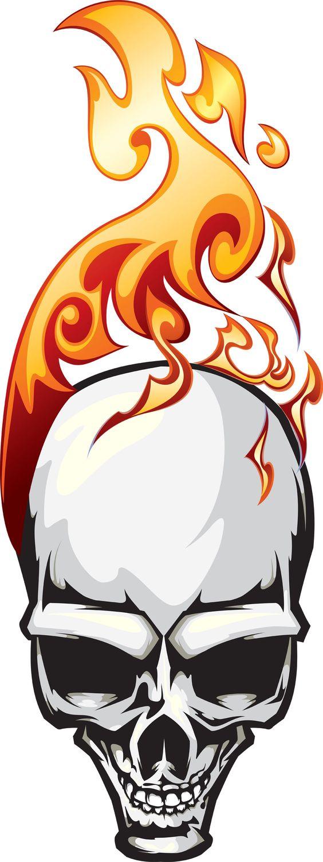 Flaming skull - Original is a vector