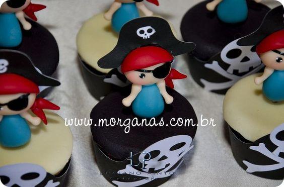 Piratinhas toper para cupcakes