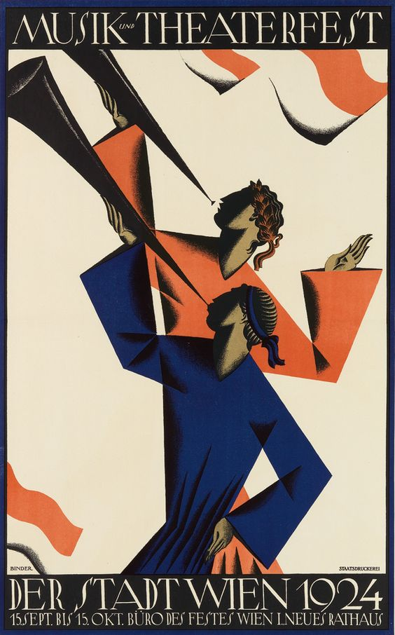 Joseph Binder, poster for the Vienna Music and Theater Festival, 1924.