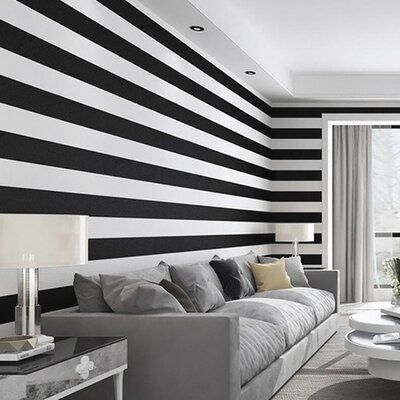 Isabelle Max Peel And Stick Removable Stripe Wall Decal Color Black Striped Walls Vinyl Wall Stripes Wall Decal Stripes
