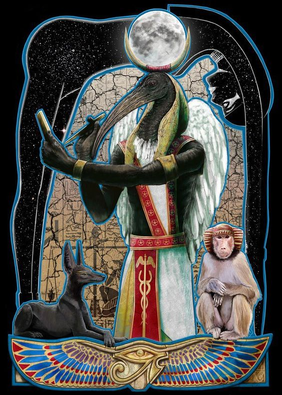 Thoth the god of wisdom