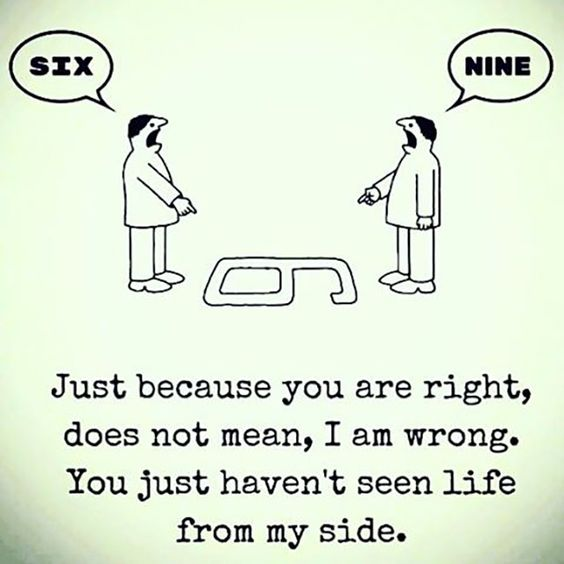 Just because you are right