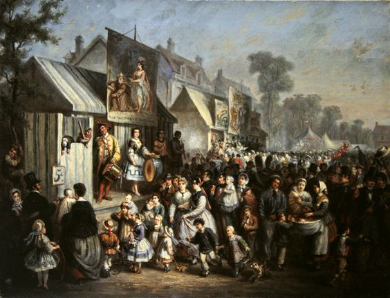 A fete at Saint-Cloud during the Second Empire (oil on canvas) by Edouard Vaumort