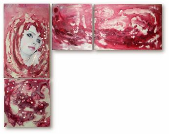 Hestia by Daniela Cojocarita Original acrylic/oil painting #Abstract Art #art #home decor #woman#soul #creative #work #handmade #vision# gift #colored #oil #free shipping #us #spirit #light #