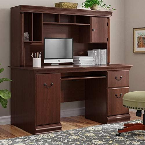 Pin On Gas Solid wood computer desk with hutch