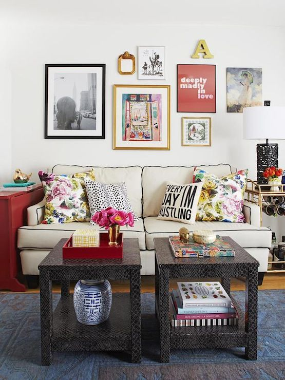 Society Social living rooms eclectic living room white wall