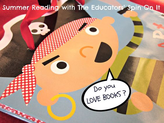 The Educators' Spin On It: Pirates LOVE BOOKS. Collection of Pirate Books and Activities for home or for a gift idea.