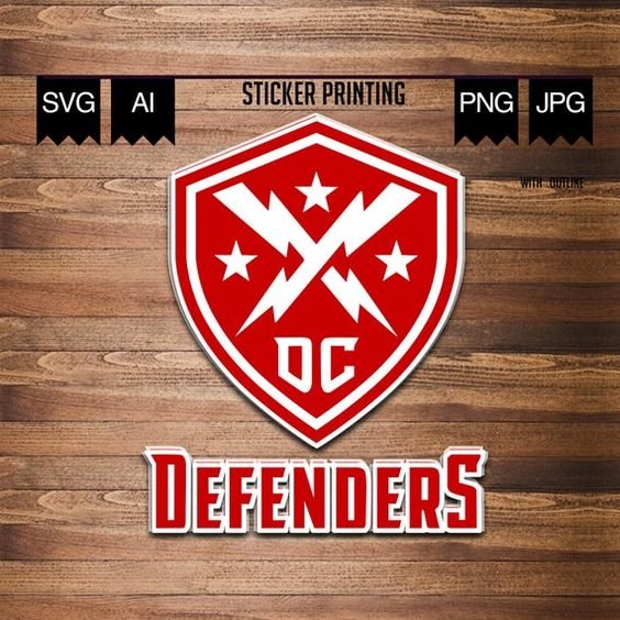 Dc Defenders Svg Dc Defenders Logo Dc Defenders Xfl Xfl Team Logo Xfl Svg In 2020 Print Stickers Logo Images Prints