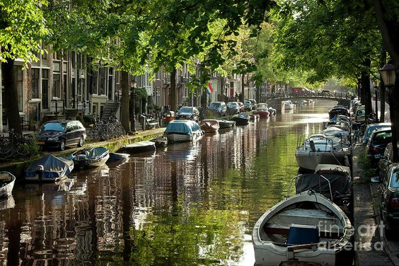 Amsterdam Canal by Joan Carroll