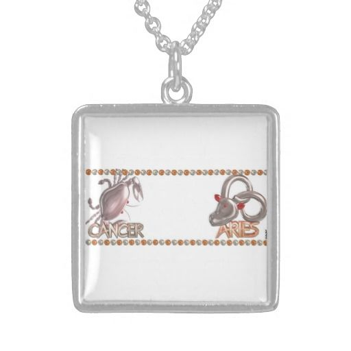 Cancer Aries zodiac astrology by valxart.com Necklaces Valxart.com astrology art is available for everyone on hundreds of products that you can customize . See us on pinterest.com/valxart  or Contact info@valx.us for help finding or making the perfect friendship gift from Valxart