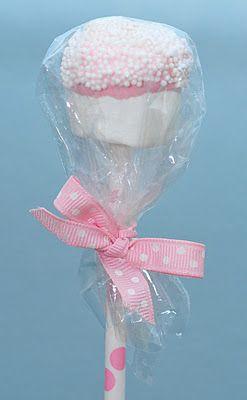 DIY marshmallow pops - Happy Chantilly