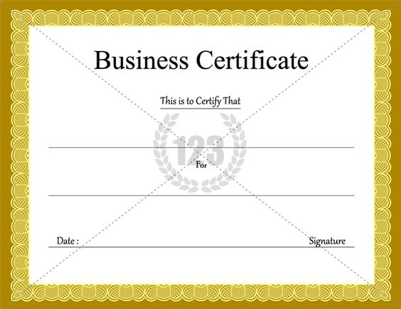 Business Certificate Templates for Free Download Certificate - blank voucher